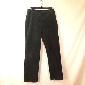 BLACK SUEDE WOMEN'S PANTS SZ 10